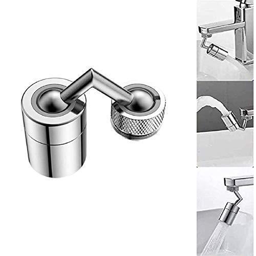 Universeller Spritzfilter-Wasserhahn,720°drehbarer Wasserhahn-Sprühkopf strapazierfähigem Kupfer ABS, Spritzschutz,sauerstoffangereicherter Schaum,auslaufsicheres Design doppeltem O-Ring (1Pc)