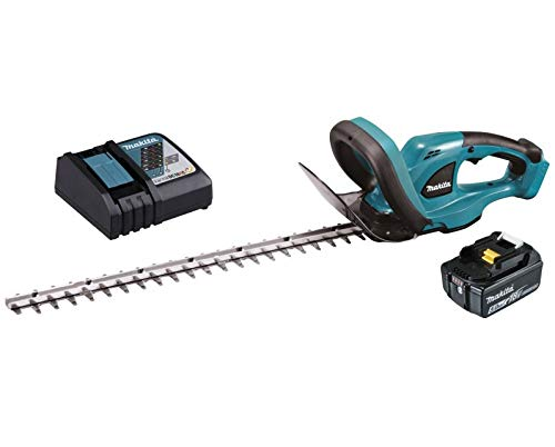 Makita DUH483RT - Cortasetos (18 V, 5,0 Ah, iones de litio, longitud de corte: 48 cm, DUH483RT, color negro