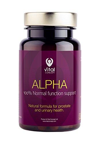 ALPHA - Complément alimentaire avec des graines de citrouille, feuilles d'ortie et d'extraits de camomille de fleurs. Supporte la fonction de la prostate, ecarte les troubles des voies urinaires et a