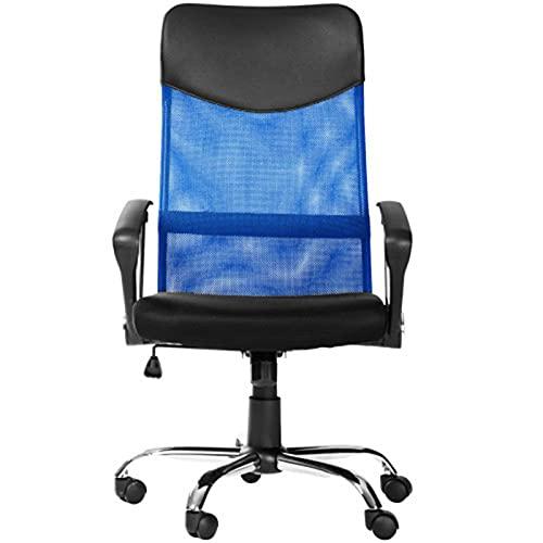 ZIHUAD Escritorio de sillas de Taburete, Oficina ergonómica Reclinable de Espalda con Espalda con Soporte Lumbar Altura Asiento Ajustable Reposacabezas de Malla transpirabl