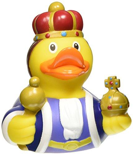 Lilalu Collector et bébé King Rubber Duck jouet de bain 8 x 8 cm, 50 g - version anglaise