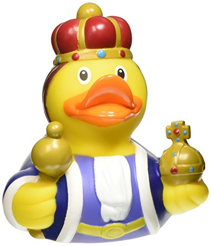 Lilalu Collector et bébé King Rubber Duck jouet de bain 8 x 8 cm, 50 g - version anglaise