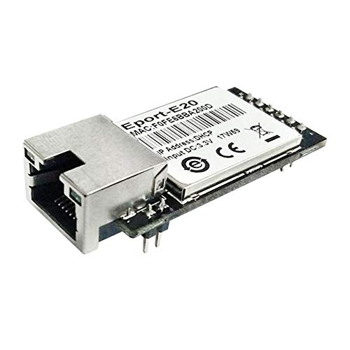 H&D 5pcs/Pack Eport-E20 FreeRTOS Network Server Port TTL Serial to Ethernet Embedded Module DHCP 3.3V TCP IP Telnet