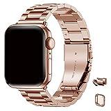 Wristitani Compatible con Correa Apple Watch, Correa de Acero Inoxidable de Liberación Rápida, Pulsera de Repuesto de Metal sin Herramientas, Pulsera de 38/40/42/44 mm para iWatch Series 6/5/4/3/2/1