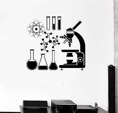 V-studios Wall Vinyl Sticker Decal Microscope Science Scientist Chemistry School VS079