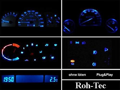 Cockpitbeleuchtung Komplettset für Corsa B - Combo B - Tigra - Astra F (Blau, Rot, Grün, Weiß) (Blau)
