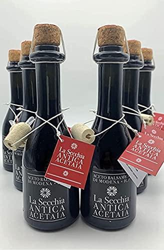 BALSAMIC VINEGAR FROM MODENA AGED IN 6 BARRELS by La Secchia 250ml, I.G.P. Certified - Aceto Balsamico di Modena - Italian Artisan Gourmet Deli