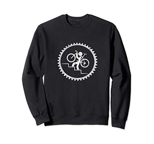 Lustiges Fahrrad Träger | Treppen Radeln Fun Geschenk Sweatshirt
