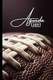 Agenda 2021: Rugby | Janvier à Décembre 2021 | Agenda annuel semainier, Format A5 | 12 mois | Pour les étudiants, professionnels et particuliers | Calendrier, liste de contacts, notes, ...