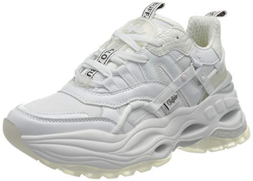 Buffalo Damen Triplet Harrow Sneaker, White, 39 EU