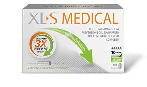 Xls Medical a Base di Litramine Compresse per la Perdita di Peso, Utili per il Trattamento e la Prevenzione del Sovappeso, 60 Compresse