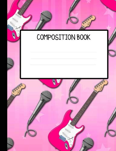Rock Star Girl Wide Ruled Composition Notebook