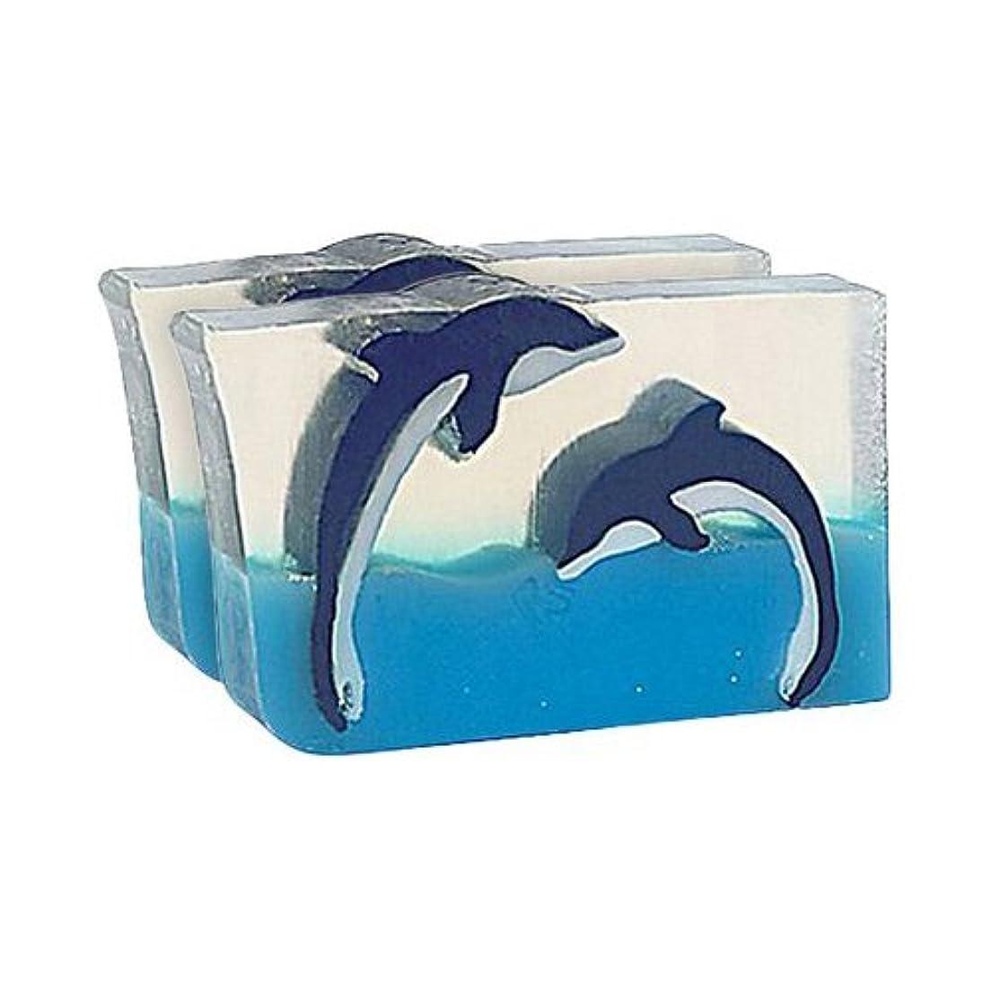 異形系譜キャラクターPrimal Elements SWDD Dueling Dolphins 5.8 oz. Bar Soap in Shrinkwrap