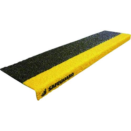 階段用滑り止カバー 黒黄 グレーチング設置用取付ネジ付属 12093-G