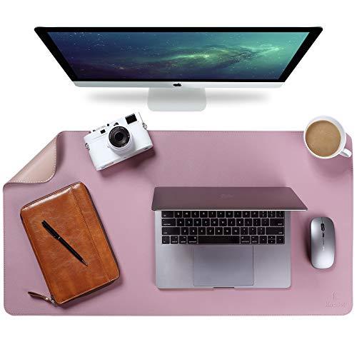 Upgrade Knodel Alfombrilla de escritorio, Estera del escritorio de oficina, Vade para escritorio hecho de cuero PU, alfombrilla del escritorio del ordenador portátil, Doble cara (4390, Púrpura)