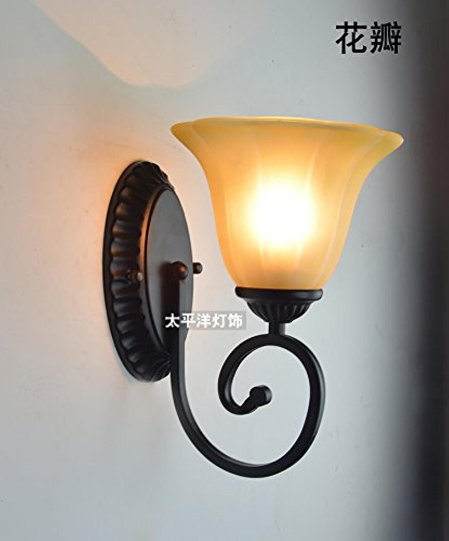 StiefelU LED Wandleuchte nach oben und unten Wandleuchten Eiserne Wand lampe Nachttischlampe Glasfront,821 Blütenbltter