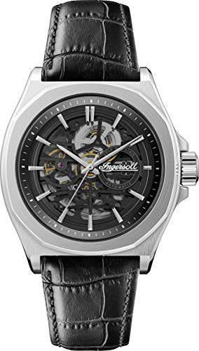 Ingersoll The Orville Automatic Men's Watch with Skeleton Dial and Black Leather Strap I09302B