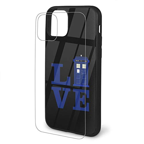 Love The Blue Travel Police Public Call Box Case Shockproof Cover with Soft TPU Protective Bumper and Toughened Glass Back for All 2019 iPhone Series with Stylish and Interesting Motifs
