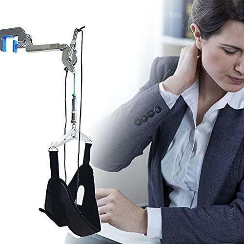 NXX Dispositivo De Tracción Cervical del Cuello Marco del Cuello De Tracción Cervical,Estirador De Cuello Ajustable Portátil sobre La Puerta Colgante De La Columna Vertebral Kit De Tracción Cervical
