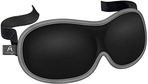 Mavogel Sleep Eye Mask - Perfect Light Blockout 3D Contoured Cup Sleeping Mask for Women Men, Ultra Soft & Comfortable Eye Shade Cover for Travel/Sleeping/Shift Work/Nap, No Pressure On Eyes