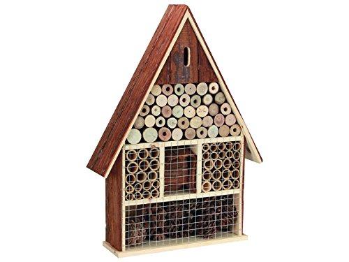 Perel bb50503 Grand Hôtel à Insectes en Bois avec Toit écorce