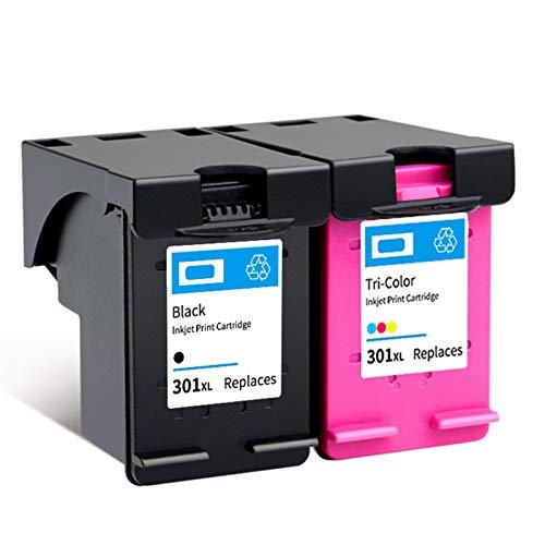Cartucho de tinta 301XL, repuesto de alto rendimiento para cartuchos de tinta HP Deskjet 1000, 1050, 1050A, 1055, 2050, 3510, ENVY 4500, OfficeJet 2620, negro y tricolor