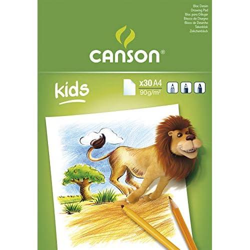 Canson 131651 Blocco da Disegno per Bambini, 30 Pezzi