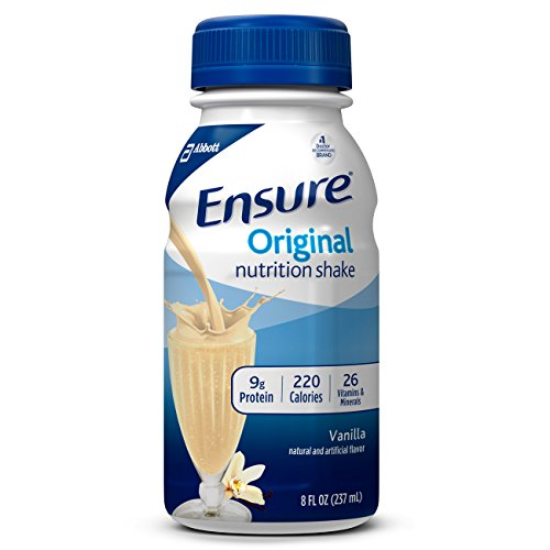 Ensure Original Nutrition Shake with 9 Grams of Protein, Meal Replacement Shakes, Vanilla, 8 fl oz (Pack of 16)