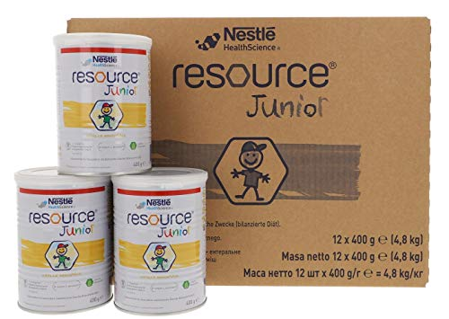 12x Resource Junior normkalorische Trinknahrung Pulver - 400g Dose