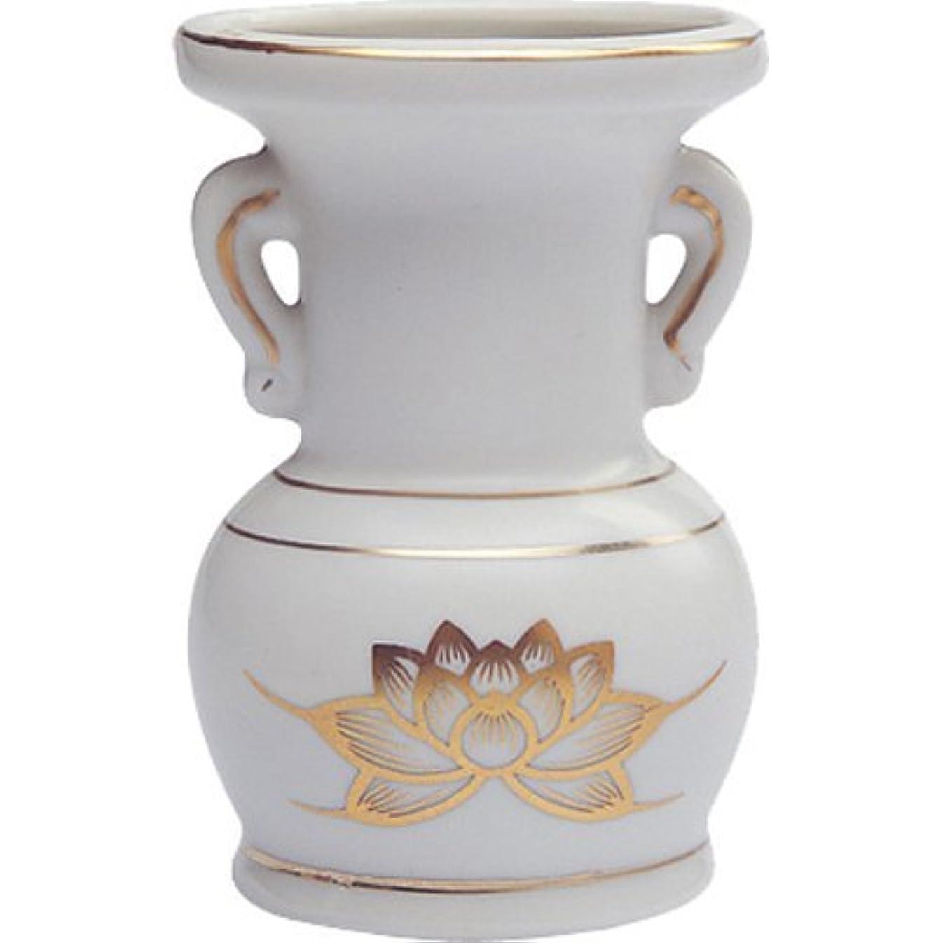 文法革命礼拝花立て 陶器(白磁)