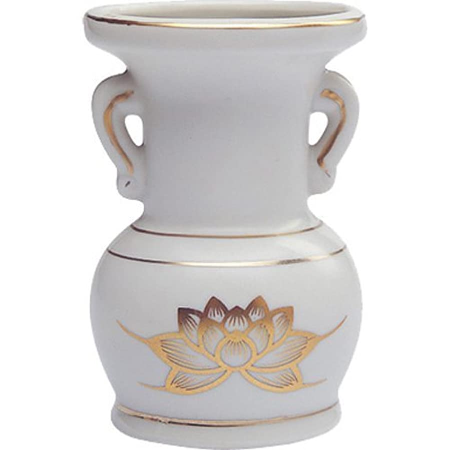 強大な経済回答花立て 陶器(白磁)