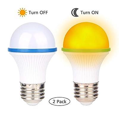 Amber Light Bulbs, Bedroom Night Light Bulb A15 3 Watt-25 Watt SONSY Home Non-Dimmable Equivalent LED Light Bulb Warm Night Light, Yellow Color Bulbs for Bedroom, E26/E27 Base (2 Pack) (Blue)