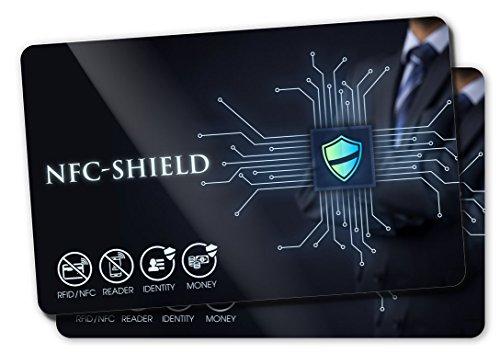 2X RFID Blocker Karten - RFID & NFC Schutz - Die NFC Shield Card schützt Ihre EC- und Kreditkarten - Nie wieder Schutzhüllen notwendig