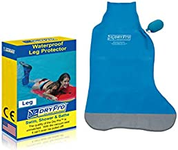 DryCorp Waterproof Vacuum Sealed Half Leg Cast Cover, Blue, Large
