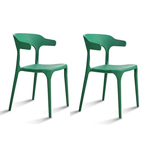 WY De Gruesa de Material plástico PP habitación Confortable Diseño Decoración Silla Moderna de plástico Evita (Color : Green)