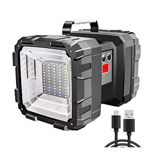 Changskj Searchlight 200W Brightest L2   P70 Doppia Torcia Testa USB LED Ricerca Torce Faro riflettori Lungo Standby (Emitting Color : Type A)