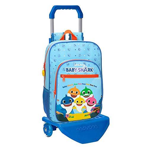 Schoolrugzak Baby Shark 38 cm met trolley