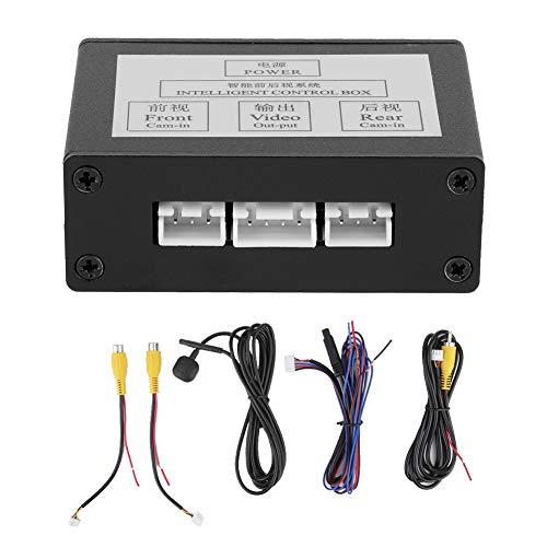 Conmutador de cámara de aparcamiento para coche, convertidor de cámara de aparcamiento inteligente, adaptador de caja de control de canal de interruptor de vídeo de visión trasera
