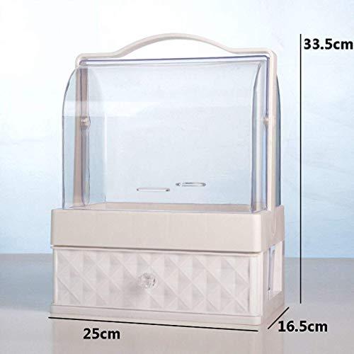 Cosmetische Organizer, Desktop Organizer opslag Rack Portable Lade Type Dust-Proof for Skin Care Products kaptafel-D Mooie en praktische cosmetische opbergdoos. (Color : A)
