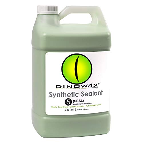 Dinowax Synthetic Sealant | Non-Wax Car Polish Spray | Professional-Grade (128 Oz)