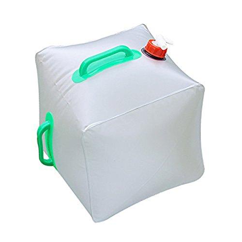 WINOMO Récipient à eau pliable Topist 5 gallons / 20L Sac à eau portatif portable / Sac à eau en cube d'urgence Stockage d'eau en plein air pour le camping Randonnée Escalade Backpacking