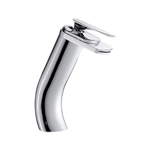 Buy Bargain Chi Cheng Fang Electronic business Faucets Bath Shower & Faucets Copper chrome bathroom faucet basin single hole waterfall hot and cold faucet washbasin personality silver faucet