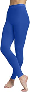 EMEM Apparel Girls' Solid Colored Seamless Opaque Footless Tights