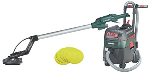 Metabo Long-Neck Sander LSV 5-225 + All-Purpose Vacuum Cleaner ASR 35 L ACP Set (690885000) with 25 Adhesive Sanding Sheets P 120 Tool Bag