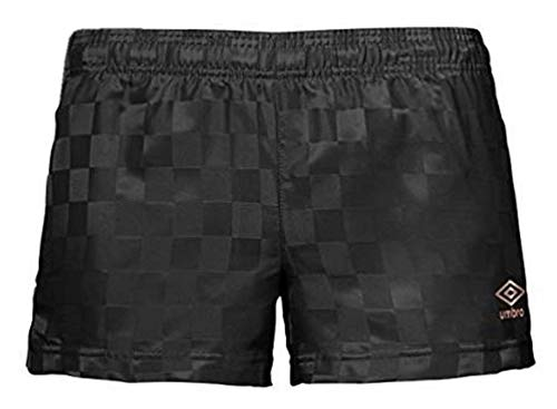 Umbro Women's Classic Checkerboard Shorts (Black/Rose Gold, Large)