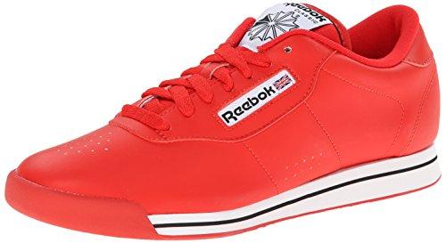 Reebok Women's Princess Classic Shoe, Techy Red/White/Black, 5 M US