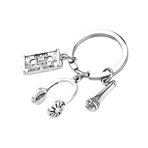 SEIRAA Singing Gift Singer Charm Jewelry Headphone keychain Gift for Singer,Music Lover ,Music Teacher MC Jewelry (Singer keychain) (Afghanistan Singer Best Performance Singer Name)