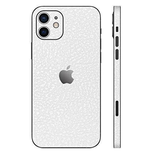wraplus for iPhone12 [ホワイトレザー] スキンシール 背面 側面 フィルム ケース iPhone 12