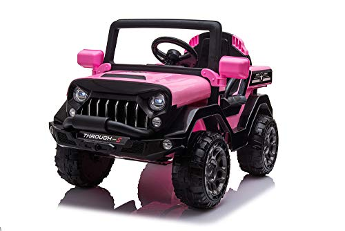 Ricco Toys Pink 4X4 Style Electric Ride On Car