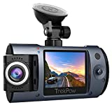 Dash Cam, Trekpow T1 HD 1080P Car DVR Dashboard Camera with 180°Rotation Len,...